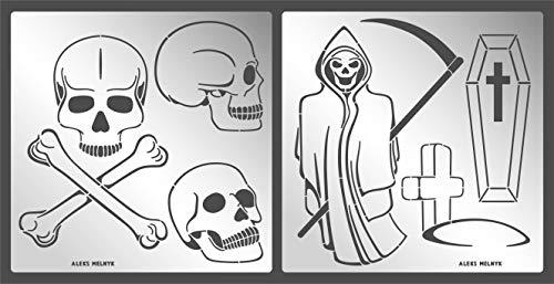 Tipo de plástico 5 Arte Stencils Plantillas Set Para Niños Dibujo Paquete de 6 funnuy