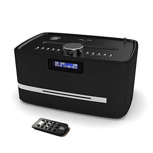 Castle DAB/DAB+ Digitales FM Radio Bluetooth Funk CD Player Mikro Kompaktes Stereo-Lautsprechersystem - Fernbedienung - Dual USB Ladegerät (schwarz)