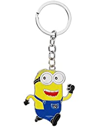 GCT Despicable Me Minion Running Cartoon Movie Character Metal Keychain | Keyring | Key Ring For Car Bike Home...