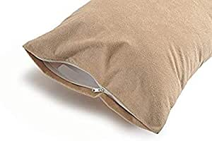 "Daksh Waterproof Dust Proof Spill Proof Bed Bug Proof 1 Pcs Standard Size Zippered Pillow Protector/Pillow Cover Beige- 17"" X 27"" inch"