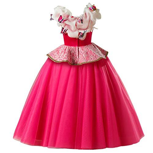 WINLISTING Kinder ärmellose Pailletten Sling One Shoulder Top Mesh Nähen Quaste Lange Hosen Zweiteilige Set Prom Kostüm Set (Trägerlosen Kleid Nähen Muster)