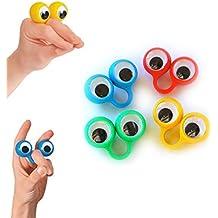 4 anillos par de ojos - Ojo dedo títeres - Marionetas de dedos - Eye finger puppets