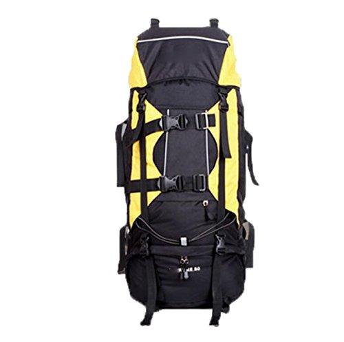 Wandern Rucksäcke Outdoor Bergsteigen Tasche Wasserdicht Camping Rucksack,Blue Yellow