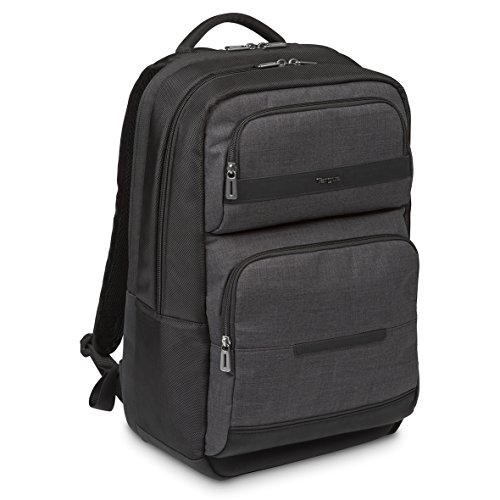 """Targus CitySmart – Mochila minimalista para transportar el portátil de 12.5""""-15.6″ y sus accesorios, color negro y gris"""
