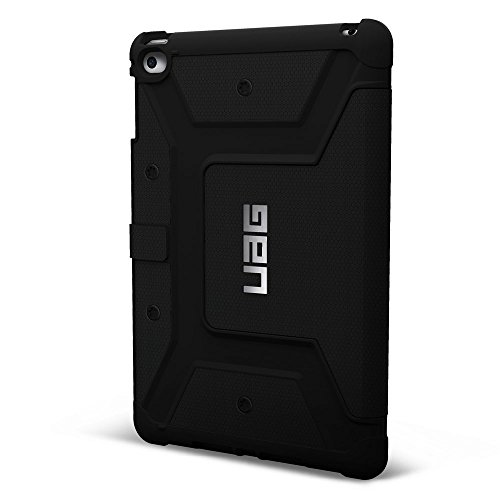 URBAN ARMOR GEAR Folio Schutzhülle für Apple iPad mini 4 (inkl. Retina) - schwarz [Stoßfest | Standfunktion | Wake/Sleep Funktion | Displayklappe] - UAG-IPDM4-BLK-VP