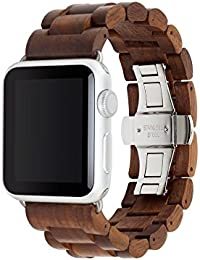 Accesorios Wearables Woodcessories EcoStrap Apple Watch Band 38mm, nuez plata