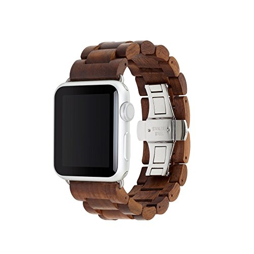 Woodcessories - Wooden Apple Watch Band 38mm (Walnut Silver)