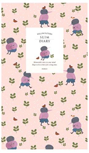 undatiert Tagebuch Planer mit Happy New Year Färben Postkarte Willow Pattern Slim PURPLE MOLE