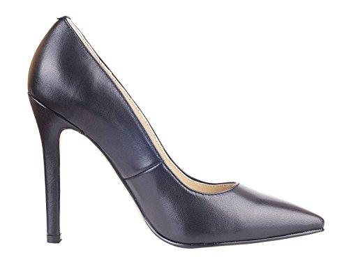 NIUERTE NIUERTEWife - A Collo Basso donna Black Leather
