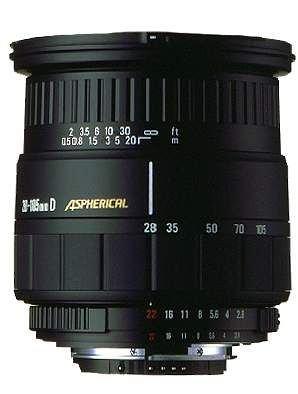 Sigma 28-105/2,8-4 IF aspherical Objektiv für Nikon D