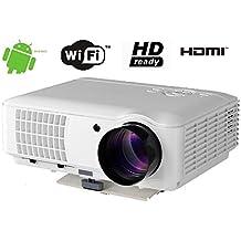 FR s84a WiFi Bratteck 4000Lumens 1920* 1080Home Android HD LED LCD Proyector HDMI * 1/USB * 2/AV/VGA Soporta iPad iPhone Smartphone
