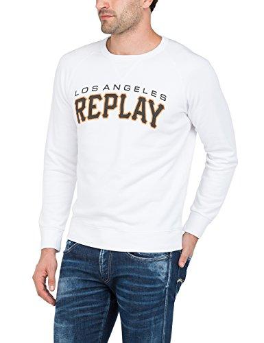 Replay Herren Sweatshirt Weiß (White 1)