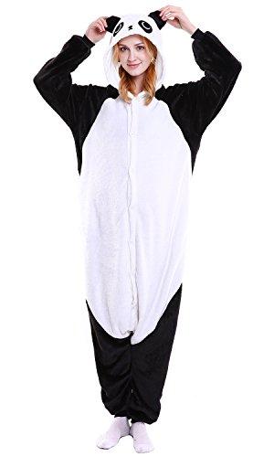 Dolamen Erwachsene Unisex Jumpsuits, Kostüm Tier Onesie Pyjama Nachthemd Schlafanzug Kapuzenpullover Nachtwäsche Cosplay Kigurum Fastnachtskostuem Xmas Halloween (Large (65