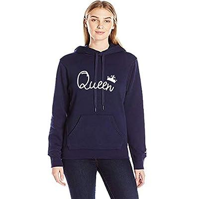 ADYK Navy Blue Cotton Hooded Sweatshirt - Queen
