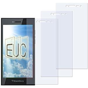 3 x Displayschutzfolie klar/wie unsichtbar für Blackberry Leap