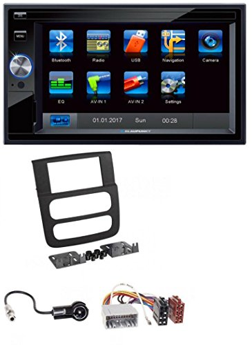 Blaupunkt Santa Cruz 370 SD Bluetooth 2DIN MP3 USB Autoradio für Dodge RAM (2002-2006) (Dodge Ram Tuner)