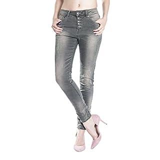 712121615b70 Blue Monkey Damen Boyfriend Jeans Maya-1409 dark green 29 32