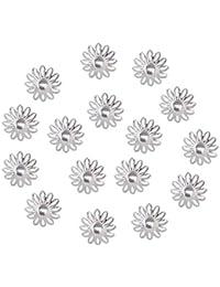 non-brand MagiDeal 100 Stücke Retro Zwischenperlen Metallperlen Blumen Endkappe Blumen Perlenkappen DIY für Schmuckherstellung
