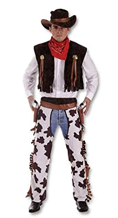 Adult Men's Western Cowboy Chaps Fancy Dress Costume. XL Size Costume. Perfect For A Stag Do or for any Cowboys and Indians Inspired Events.