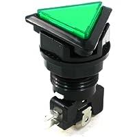 Sourcingmap - Montaggio a pannello spdt indicatore verde momentaneo gioco tasto triangolo spinta