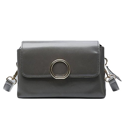 Oblique Kreuz Weiblichen Tasche Schulter Kleinen Quadratischen Tasche Mit Magnetischen Abzug Handtasche Reißverschluss Tasche Bedeckt Grey