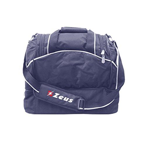 Borsa fitness zeus calcio borsone palestra piscina calcetto sport pegashop (blu, 45 x 40 x 25)