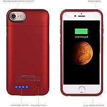 Funda batería para iPhone 6 / 6S / 7 4.7, Mbuynow 3000mAh batería recargable para iPhone Power Case / funda protectora con 3000mAh batería integrada para iPhone 6 / 6S / 7 4.7,Rojo