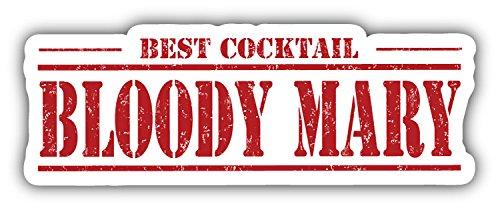Preisvergleich Produktbild Bloody Mary Best Cocktail Grunge Stamp Hochwertigen Auto-Autoaufkleber 15 x 5 cm