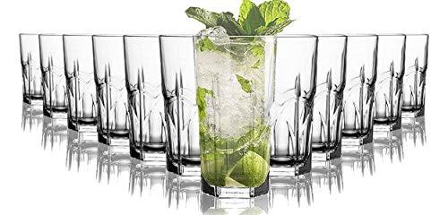 Tivoli Sydney Wassergläser - 250 ml - Set aus 12 - Hochwertige Gläser ? Spülmaschinenfest ? Kristallgläser