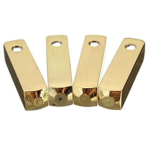 Schuhband Tipps - SODIAL(R)4pcs Luxus Metall Aglet Schuhband Schraubmontage Ersatz Farben: Goldene