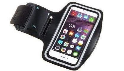 B.D.L. Fascia da Braccio Sportiva Universale Armband Portacellulare Bracciale per Corsa & Esercizi con Cinturino Regolabile Custodia per Smartphone Fino a 6.0 Pollici Come iPhone X