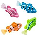 Scenstar Robo-Fisch Clownfisch Lebensechte Bewegungen, Auf- und Abtauchen | Wasserspaß für Kinder | elektronisches Wasser-Spielzeug Deep Sea Wimplefish, elektronisches Haustier bunt