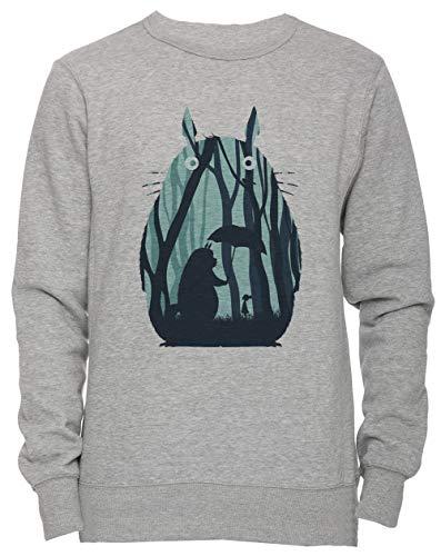 5b41abc8 Mio Vicino Totoro Unisex Uomo Donna Felpa Maglione Pullover Grigio  Dimensioni M Men's Women's Jumper Sweatshirt