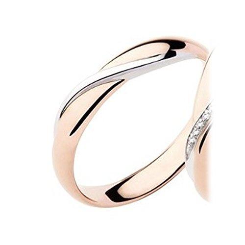 fedi matrimoniali POLELLO oro rosa e bianco gr.5 mm.3.8