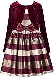 Bonnie Jean Mädchenkleid Satin-Kleid + Samtbolero in brommbeere/Gold Gr. 104,110,116,122,128,134,140,152,158,164 Größe 158
