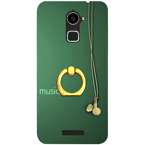 Casotec Music Design 3D Printed Hard Back Case Cover with Metal Ring Kickstand for Coolpad Note 3 Lite