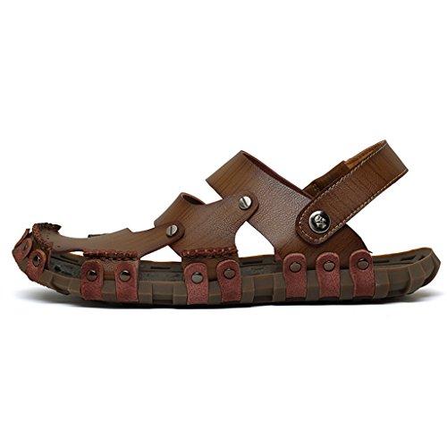 Eagsouni Mules & sabots homme Sandales et chaussures de plage pour hommes Chocolat