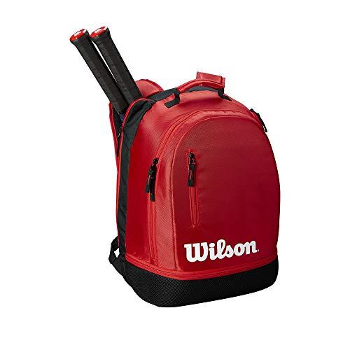 WILSON Rucksack Team, Team Backpack, schwarz/red (Tennis-taschen Wilson)