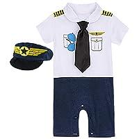 COSLAND Infant Baby Boys' Halloween Costume Pilot Romper (0-6 Months)