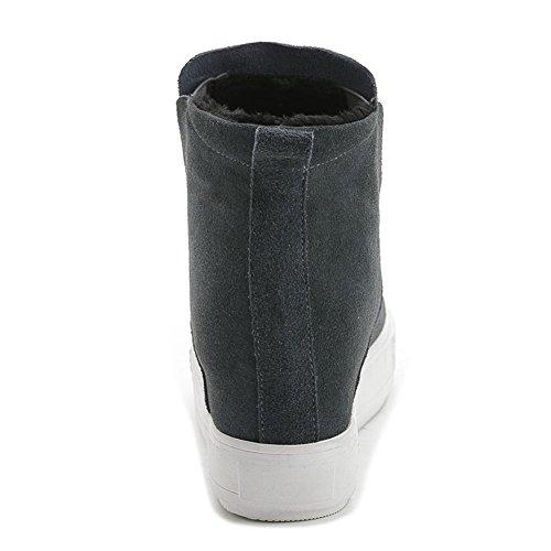 new products 591e9 daa59 ... Femme Haute Cheville Bottes Chaussures Automne Hiver Noir Tache  Épaisses Bas Nike Dunk Sky Hi Partie ...