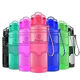 Bottiglie di Acqua Tritan Bottiglia per Bambini/Adulti- a Prova di perdite, con Filtro, Coperchio Superiore Flip, Senza BPA