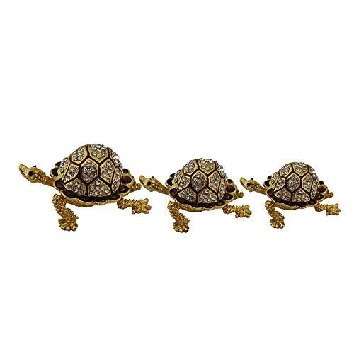 Divya Mantra Bejeweled Wunschschschschildkröte 3er Set Bejeweled Tier