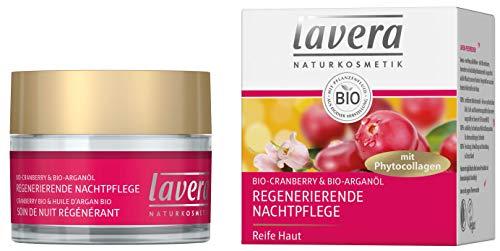 lavera Regenerierende Nachtpflege mit Phytocollagen ∙ Bio Cranberry & Arganöl ∙ Anti Falten...