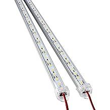 ROSENICE DC 12V alluminio rigida LED Strip Bar luce 50CM 2pcs(bianco)