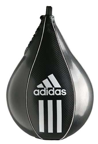 Adidas palla da boxe speed striking ball, nero, 25 x 17 cm, adibac09-2517