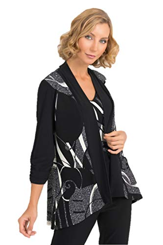 Joseph Ribkoff Black & Multicolor 2 Piece Set Cover-Up Style - 193673 Fall 2019 Collection