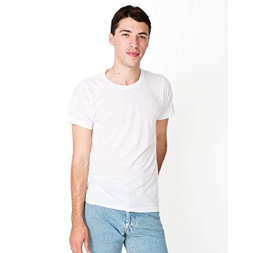 American Apparel Unisex Kurzarm Sublimation T-Shirt (XS) (Weiß) (American Apparel-track Shirt)