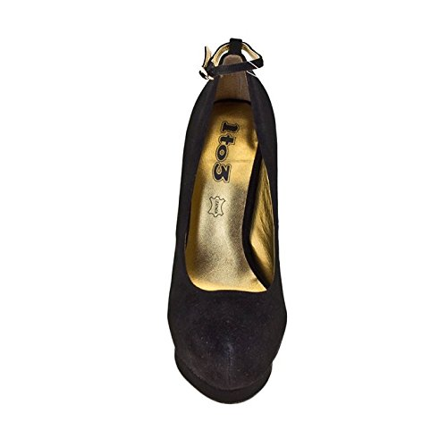 1TO3 - Chaussure avec plate-forme strass Noir