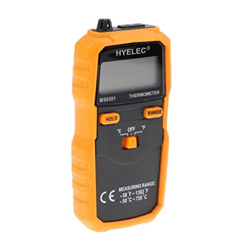 Gazechimp Digital Thermometer Messgerät mit Temperatur Sensoren