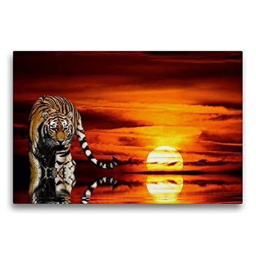 Premium Textil-Leinwand 75 x 50 cm Quer-Format in der Abendsonne | Wandbild, HD-Bild auf Keilrahmen, Fertigbild auf hochwertigem Vlies, Leinwanddruck von Elke Krone
